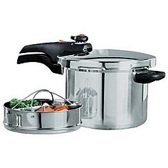 Prestige - Stainless steel 'Smart Plus' 6L induction pressure cooker