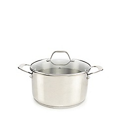 Home Collection - Stainless steel 24cm stockpot with lid