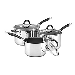 Circulon Stainless Steel Momentum 3 Piece Induction Cookware Set