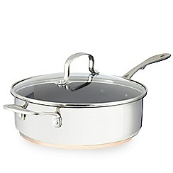 Home Collection - Stainless steel copper base 24cm covered saute