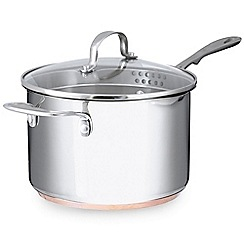 Home Collection - Stainless steel 20cm saucepan with lid and copper base