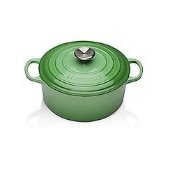 Le Creuset - Green cast iron 'Signature' 26cm shallow casserole