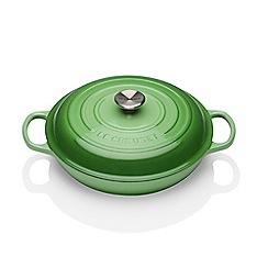 Le Creuset - Green cast iron 'Signature' 30cm shallow casserole