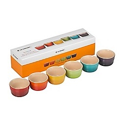 Le Creuset - Set of 6 stoneware mini rainbow ramekins