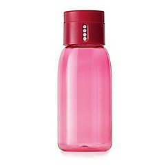 Joseph Joseph - Pink 'Dot' hydration tracking 400ml water bottle