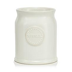 At home with Ashley Thomas - Cream ceramic utensils jar