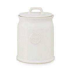 At home with Ashley Thomas - Cream ceramic bread jar