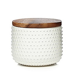 Home Collection - Off white 'Stockholm' textured storage jar