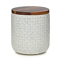 Home Collection Off White Stockholm Textured Storage Jar