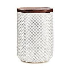 Home Collection - Large off white ceramic 'Stockholm' storage jar