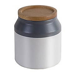 Jamie Oliver - Small ceramic storage jar with acacia wood lid