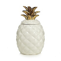 At home with Ashley Thomas - White ceramic pineapple cookie jar