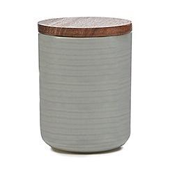 Home Collection - Grey 'Stockholm' textured medium storage jar