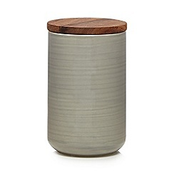 Home Collection - Grey 'Stockholm' textured large storage jar