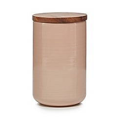 Home Collection - Pink 'Stockholm' textured large storage jar