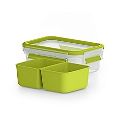 Tefal - 'MasterSeal To Go' snack box with inserts 0.55L