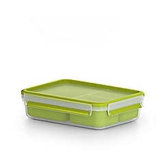 Tefal - 'MasterSeal To Go' snack box with inserts 1.2L