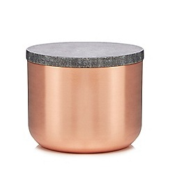 J by Jasper Conran - Bronze copper and marble storage jar