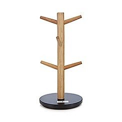 J by Jasper Conran - Black wooden mug tree