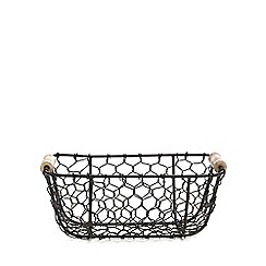 Home Collection - Black chicken wire basket