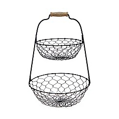Home Collection - Black chicken wire vegetable rack