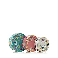 Home Collection - Set of 3 floral print cake tins