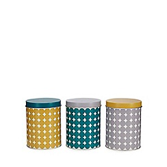 Home Collection - 3 pack multi coloured spotted tins
