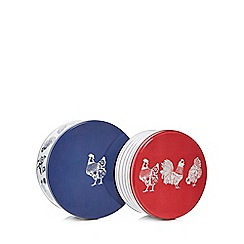 Home Collection - Set of 2 navy chicken print cake tins
