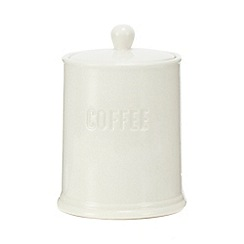 Home Collection - White ceramic coffee jar