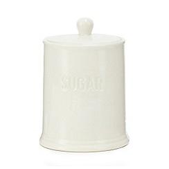 Home Collection - White ceramic sugar jar