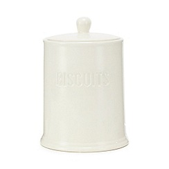 Home Collection - White ceramic biscuit jar