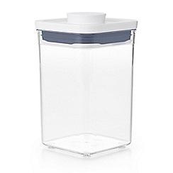 OXO - White 'Pop' square short storage container