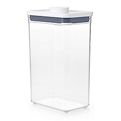 OXO - White 'Pop' rectangle medium storage container