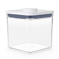 OXO - White 'Pop' big square short storage container