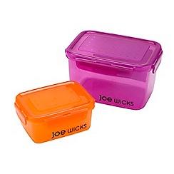 Joe wicks - Orange and pink 2 piece food storage container set