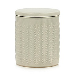 Home Collection - Green Embossed Small Storage Jar