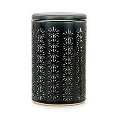 Home Collection - Navy Embossed Medium Storage Jar