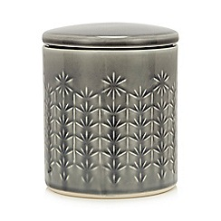 Home Collection - Grey Embossed Large Storage Jar