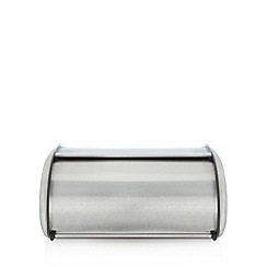 Home Collection Basics - Silver stainless steel roll top bread bin