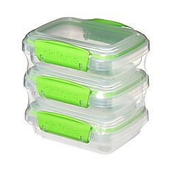 Sistema - Set of 3 Lime Green 'Fresh™' Rectangular Food Containers