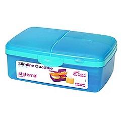 Sistema - Slimline 'quaddie' lunch box assorted colours