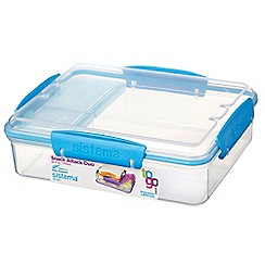 Sistema - 'The Snack Attack Duo To Go' lunch box 975ml