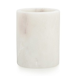 J by Jasper Conran - White marble utensil holder