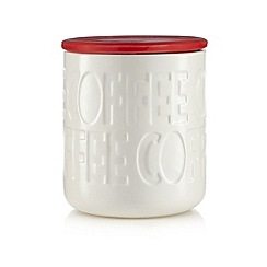 Ben de Lisi Home - Red debossed coffee jar