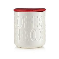 Ben de Lisi Home - Red debossed coffee jar