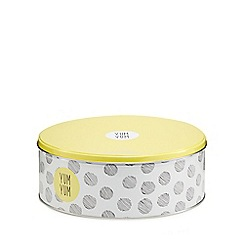 Ben de Lisi Home - Yellow 'Yum Yum' spot cake tin