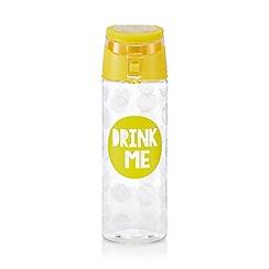Ben de Lisi Home - Yellow 'Drink Me' print water bottle