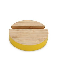 Ben de Lisi Home - Yellow bamboo tablet stand