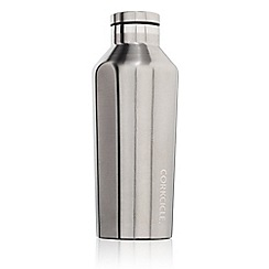 Corkcicle - Silver stainless steel insulated canteen flask