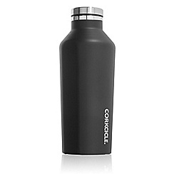 Corkcicle - Black stainless steel insulated canteen flask